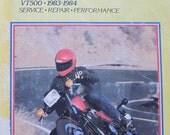 Clymer Honda VT 500 Motorcycle Repair Manual 1983 1984