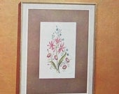 Vintage Flower Pictures in Embroidery Book