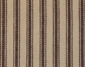 Vintage Inspired Potting Soil Brown Cotton Ticking Stripe Material 1 Yard