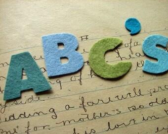 Wool Felt Alphabet Set Chunky Font - Fun Learning Tool - Felt Letters - Felt Board