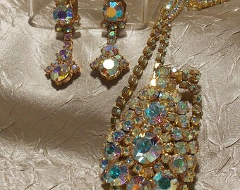 Vintage Juliana Rhinestone Necklace Earrings
