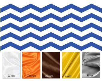 CLEARANCE SALE / Royal blue Chevron minky print with Orange satin / Comforting fabrics, great baby shower gift