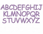 No. 34 Comic Sans Three Embroidery Font (.15in, .25in, .5in, 1.5in and 2in) INSTANT DOWNLOAD - dst exp hus jef sew pes vip xxx and BX