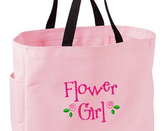 Customizable Embroidered Tote - Bridesmaid Bride Flower Girl - Create a custom and unforgettable gift