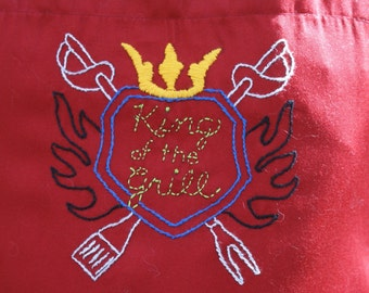 Men's barbque apron