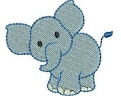 INSTANT DOWNLOAD Mini Elephant Luna embroidery designs