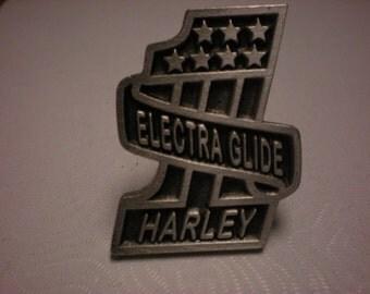 vintage harley davidson pin. GREAT SHAPE electra glide