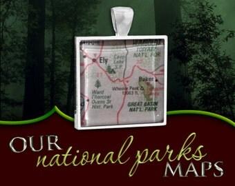 Great Basin National Park Map Pendant