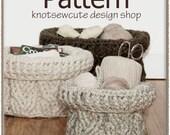 Braided Baskets - Crochet Pattern (PDF) - INSTANT DOWNLOAD