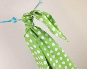 Riley Blake Dot Green Blanket Swaddler Light: Receiving Blanket