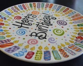 Extra Large Family Birthday Plate - 12 Inch Ceramic Plate