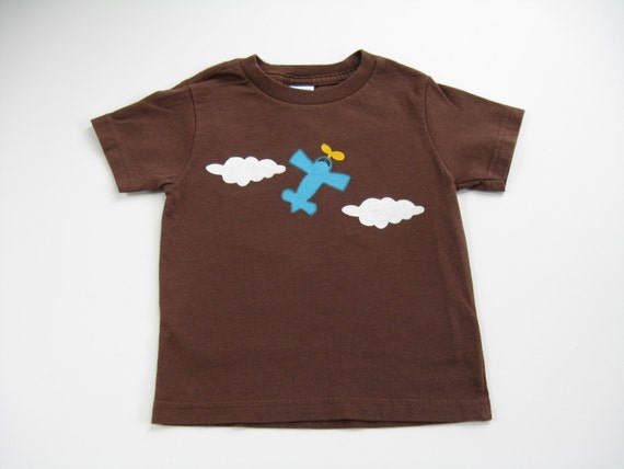 Airplane Pilot Tee or Top, Airplane Shirt, Airplane Theme, Birthday Party Shirt, Hand Painted Cotton T Shirt, Short Sleeve, Baby and Toddler