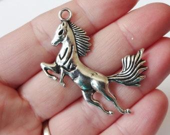4 Mustang Horse Pendants 45x34.5x4mm ITEM:AF6