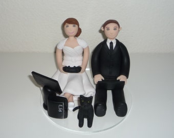 Video game wedding cake topper sample