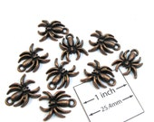 Antiqued Copper Metal 18mm x 15mm Cute Spader Charms, Set of 9, 1086-21