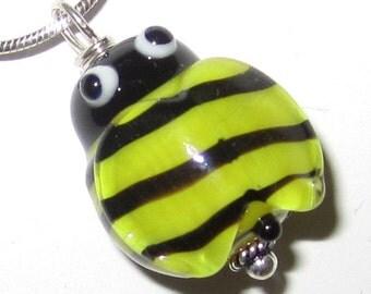 Cute Lampworked Glass Bee