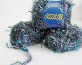FRIZZULTRA  Destash Yarn Aqua Marine Blue Teal Forest Green Color 110 Knitting Yarn Craft Supplies