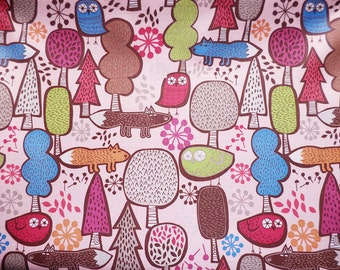 3181 - Night Owl in the Forest Waterproof Fabric - 58 Inch (Width) x 1/2 Yard (Length)