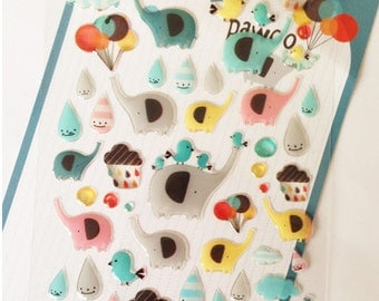 PVC Stickers (P164.22 - Elephant)