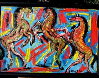 Mid Century Modern Horses