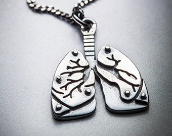 MINI LUNGS silver necklace