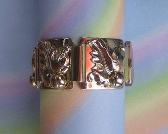 Vintage 50s Modern Leaf Bracelet Marino