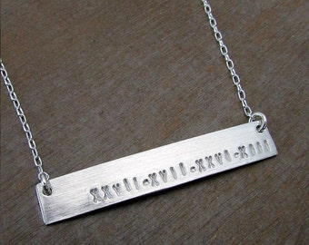 Silver Bar Necklace | Personalized Silver Jewelry | Name Charm | E. Ria Designs