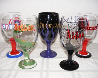 Hand painted custom/personalized glass