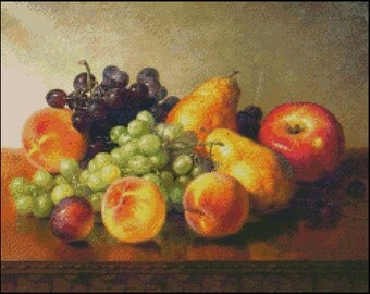 An Arrangement Of Fruit cross stitch pattern No.97