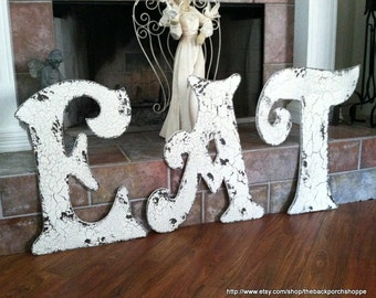 EAT Kitchen Signs PACKAGE of 3 - 24 in. Cut Out Letters Initials E A T