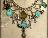 Reserved for Peggy ... Ave Maria ... Vintage, Gypsy, Boho, Spiritual, Assemblage... Necklace