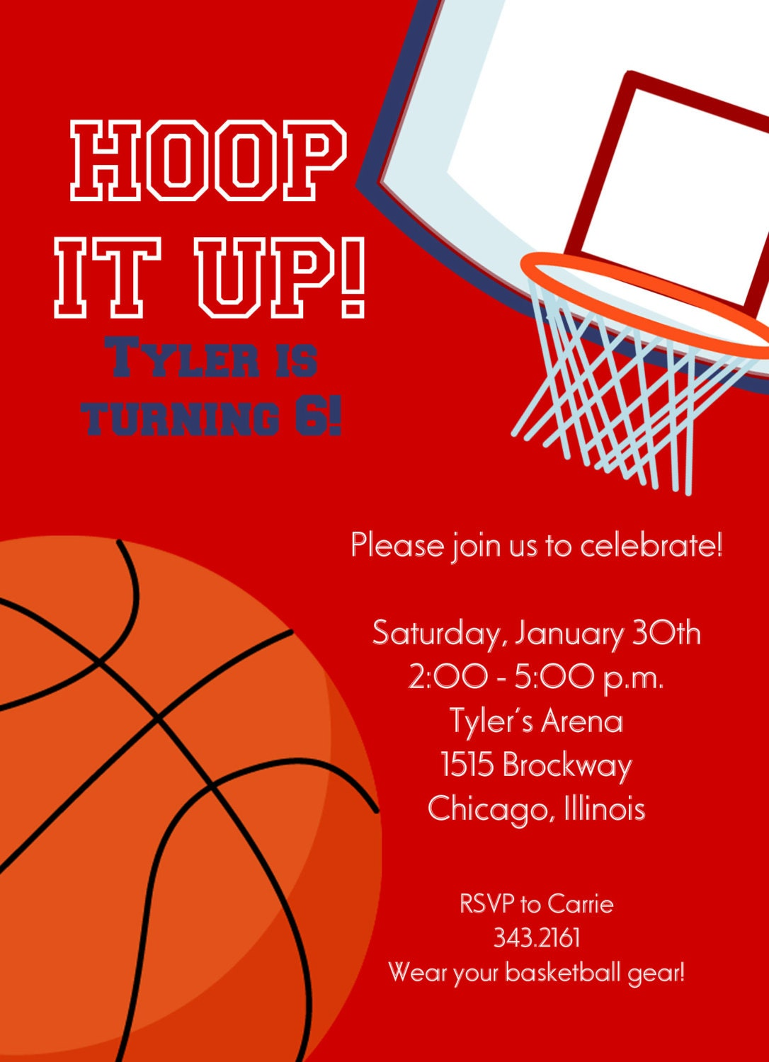 basketball invitation printable invitation kids by