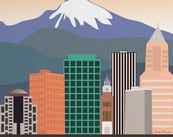 Popular Items For Portland Skyline On Etsy
