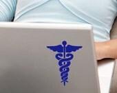 Caduceus Symbol Medical decal sticker Nurse Decals Doctor gifts Nurse car window sticker college student graduation gifts