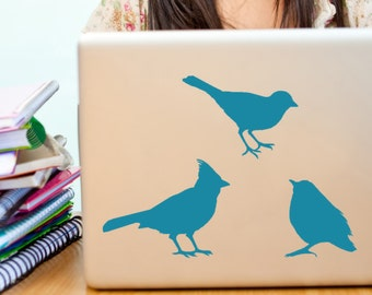Bird decals  Robin sparrow and chickadee vinyl wall art decal stickers