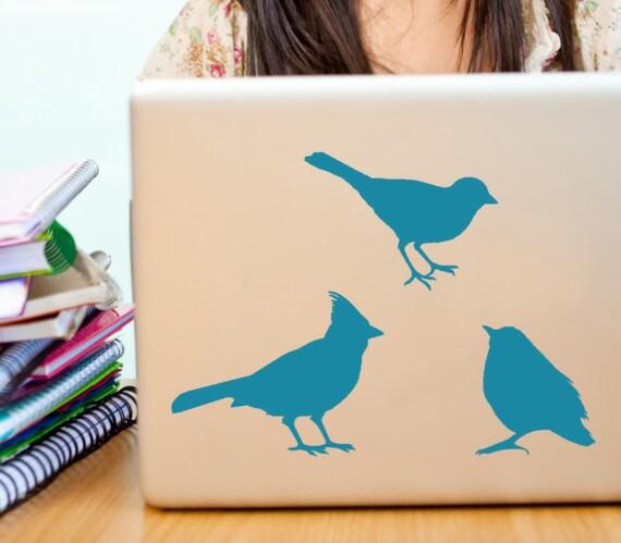 Bird decals  Robin sparrow and chickadee vinyl wall art decal stickers