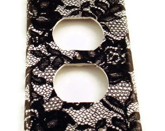 Light Switch Cover Wall Decor Switchplate Outlet Plate  in  Midnight Lace (197O)