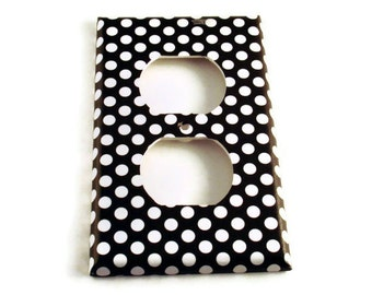 Light Switch Cover Outlet Wall Decor Switchplate Switch Plate in  Polka Dots Rock (207O)