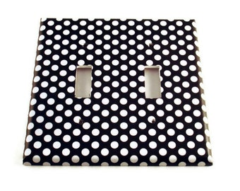 Double Light Switch Cover Wall Decor Switchplate Switch Plate in  Polka Dots Rock (207D)