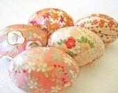 Coral Easter Eggs, peach Easter eggs, apricot Easter eggs, Easter eggs, decoupage eggs, origami eggs, orange Easter eggs