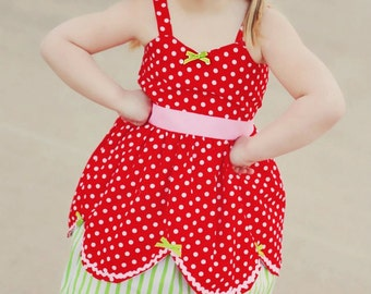 Strawberry dress Strawberry  Shortcake inspired retro STORYBOOK dress great for a special occasion or birthday party