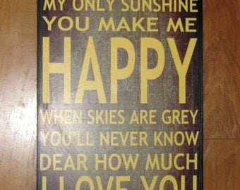 "You Are My SUNSHINE- 13"" x 28"" pre-designed mounted GICLEE print"