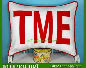 FILL'ER UP Large Applique Monogram Pillow Cover - 14 x 20