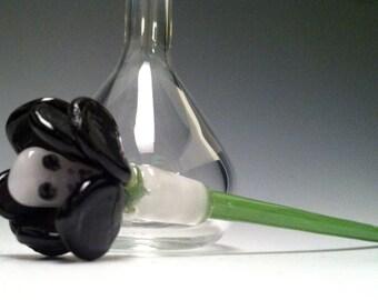 Black Rose Skull Bottle