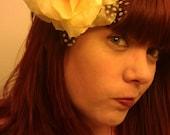Yellow, Rose, yellow rose, Bridal, wedding, Wedding rose, Yellow clip, Yellow Hair Flower, Yellow Hair clip, Wedding flower