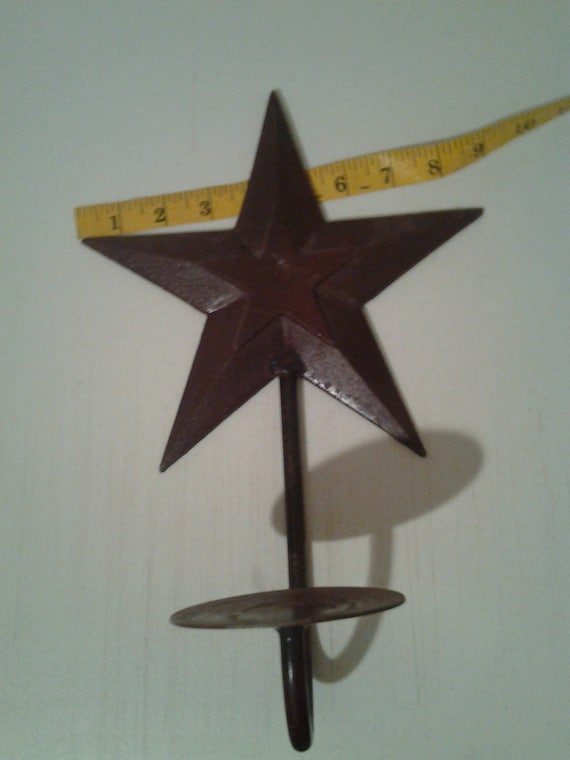 Items similar to Metal Texas Star Candle Holder Wall Sconce on Etsy