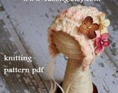 Chunky Thick-Thin Bonnet Knitting Pattern PDF Number 138 -- INSTANT DOWNLOAD -- Permission to sell bonnets -- Over 15,000 patterns sold