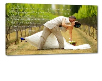 Cotton Anniversary Gift Personalized Wedding Decor Gift Your photo on canvas word art on Personalized Custom Art Canvas Wedding 18X24
