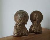 Overbach Brass Mary and Jesus Busts