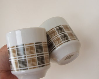 Pair of Harmony House Highlander Demitasse Cups Mugs Fine China from Japan